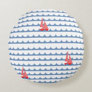 Travesseiro ausente do barco da vela almofada redonda