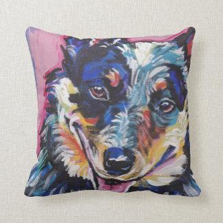 Travesseiro australiano do pop art do cão do gado almofada