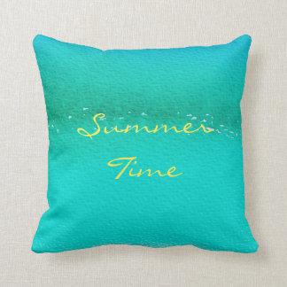 """Travesseiro azul 16"""" das horas de verão x 16"""" almofada"""
