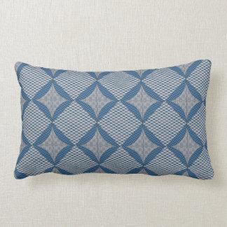 Travesseiro azul da edredão do falso almofada lombar