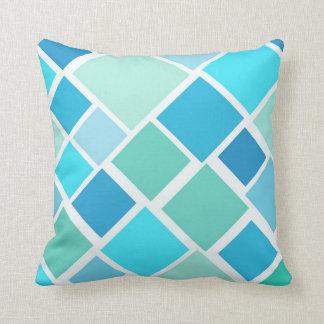 Travesseiro azul do bloco de cidade almofada