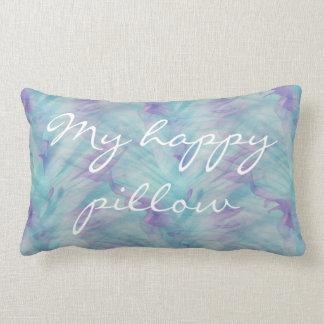 Travesseiro azul e roxo do meu travesseiro feliz almofada lombar
