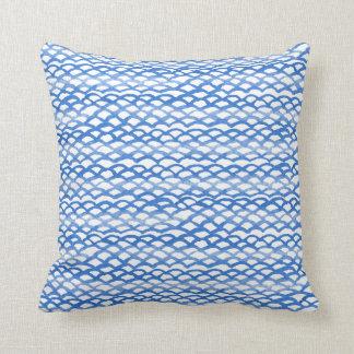 Travesseiro azul ecléctico do índigo de Boho Almofada