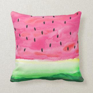 Travesseiro bonito da melancia da aguarela almofada