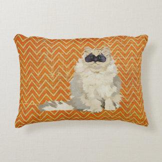 Travesseiro branco do mascarada do gato almofada decorativa