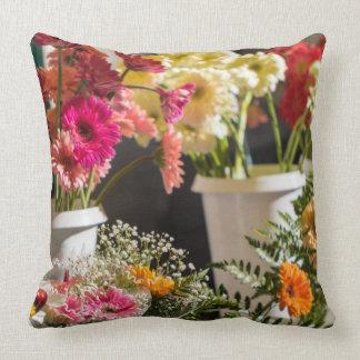 Travesseiro brilhante das flores, coxim almofada
