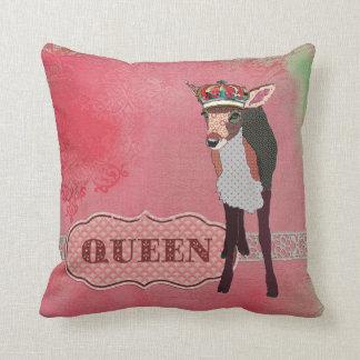 Travesseiro cor-de-rosa bonito de Mojo da jovem co