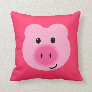 Travesseiro cor-de-rosa bonito do porco almofada