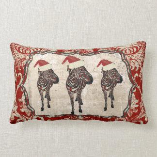Travesseiro cor-de-rosa de MoJo do Natal da zebra