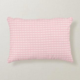 Travesseiro cor-de-rosa do acento do guingão almofada decorativa
