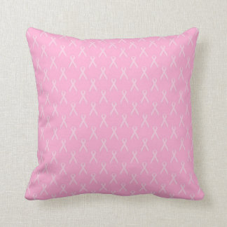 Travesseiro cor-de-rosa macio da fita almofada