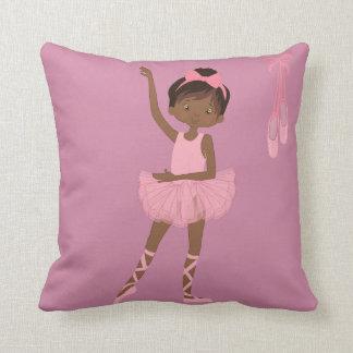 Travesseiro da bailarina do afro-americano da almofada