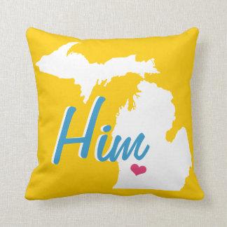 Travesseiro da cor do noivo personalizado do almofada