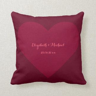 Travesseiro da data do casamento do marido da almofada