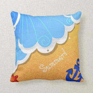Travesseiro da praia do verão almofada
