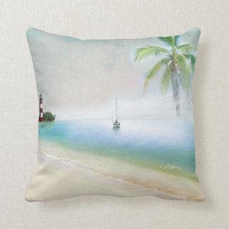 Travesseiro da praia e do veleiro almofada