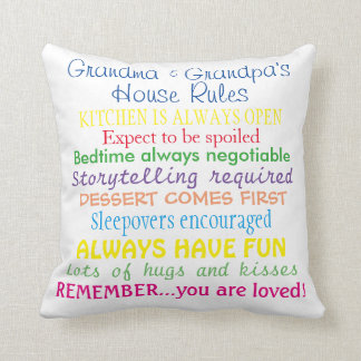 Travesseiro das regras da casa das avós almofada