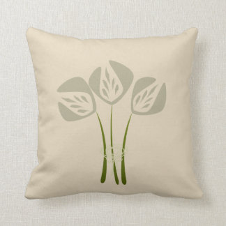 Travesseiro de creme bege Pastel das tulipas Almofada