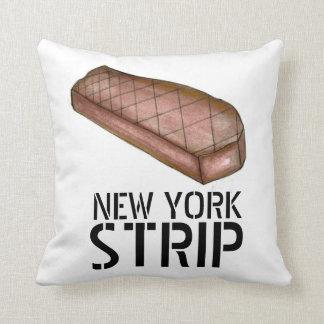 Travesseiro de Foodie da carne do bife da tira NYC Almofada