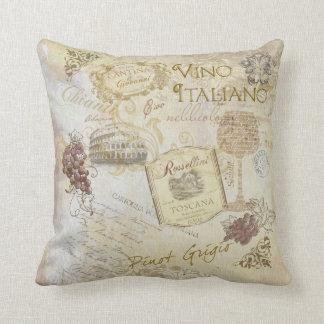 Travesseiro de Italiano II do Vino Almofada