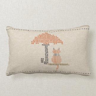 Travesseiro de linho bonito do guarda-chuva do almofada lombar