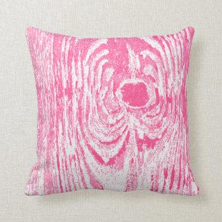 Travesseiro de madeira do teste padrão do rosa almofada