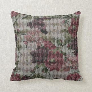 Travesseiro de Mashup do diamante & da flor Almofada
