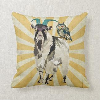 Travesseiro de Mojo da cabra & da coruja de Billy