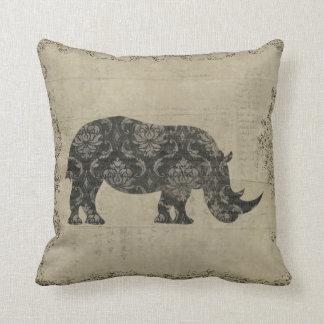 Travesseiro de MoJo da silhueta dos rinocerontes