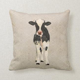 Travesseiro de MoJo da vaca do ônix & do marfim
