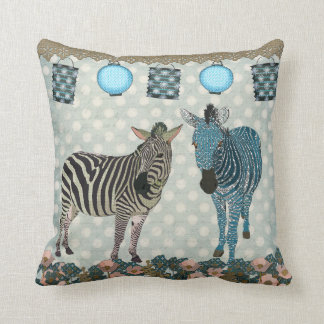 Travesseiro de Mojo das zebras do zen