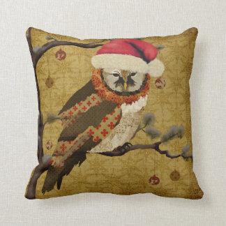 Travesseiro de MoJo do Natal da coruja das mães