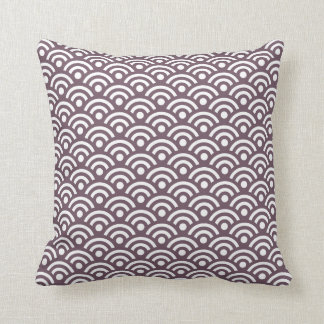 Travesseiro de Seigaiha da beringela Almofada