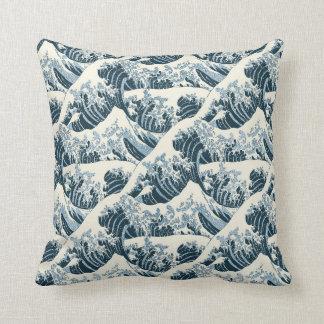 Travesseiro decorativo - a onda de Hokusai Almofada