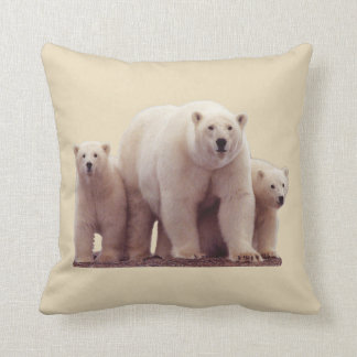 Travesseiro decorativo ártico bonito dos animais almofada