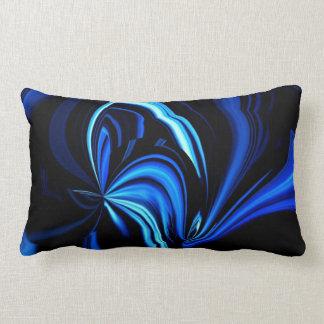 Travesseiro decorativo azul abstrato da borboleta almofada lombar