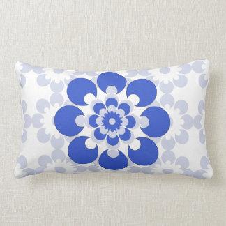 Travesseiro decorativo azul azul e cinzento da almofada lombar