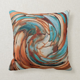 Travesseiro decorativo azul da arte abstracta da almofada