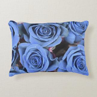 Travesseiro decorativo azul dos rosas almofada decorativa