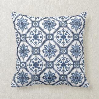 Travesseiro decorativo - azulejos de mosaicos flor