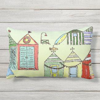 Travesseiro decorativo bonito das cabanas da praia almofada lombar