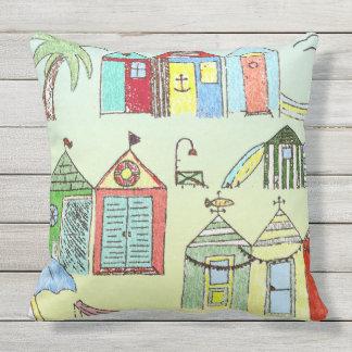 Travesseiro decorativo bonito das cabanas da praia almofada para ambientes externos