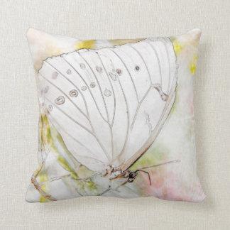 """Travesseiro decorativo branco 16"""" da aguarela da almofada"""