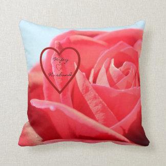 """Travesseiro decorativo cor-de-rosa 16"""" do marido almofada"""