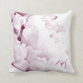 Travesseiro decorativo cor-de-rosa da peônia almofada