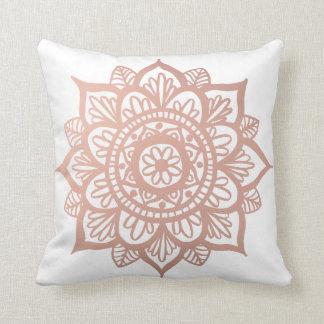 Travesseiro decorativo cor-de-rosa novo da mandala almofada