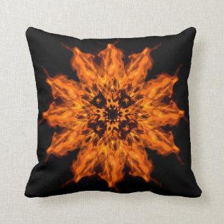 Travesseiro decorativo da arte do fogo da mandala almofada