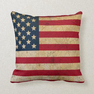 Travesseiro decorativo da bandeira americana do almofada
