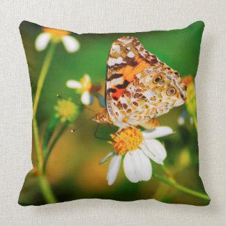 Travesseiro decorativo da borboleta da beleza de almofada
