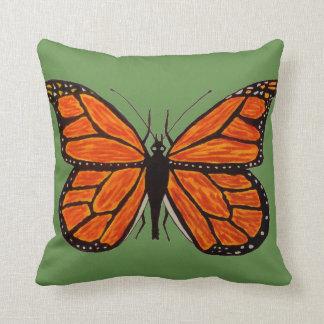 Travesseiro decorativo da borboleta de monarca almofada